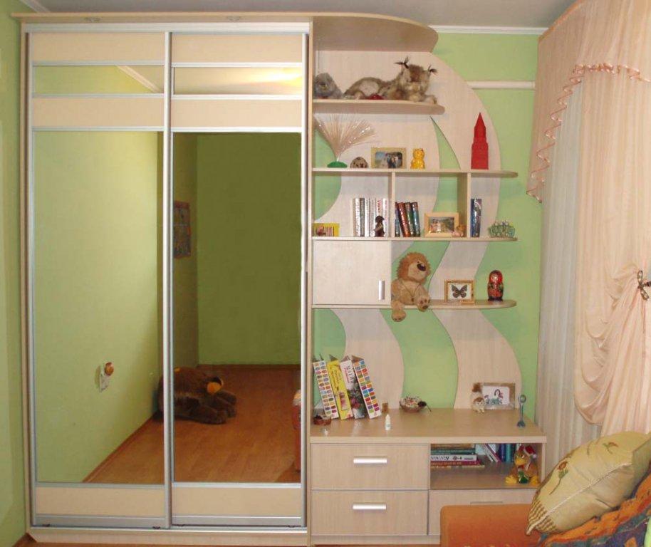 Шкафы купе дизайн внутри с размерами в детскую