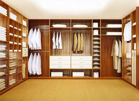 Распределение внутреннего пространства в шкафах-купе и гардеробных комнатах